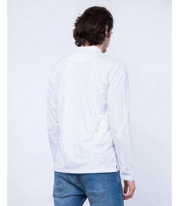 T-shirt serafino a manica lunga