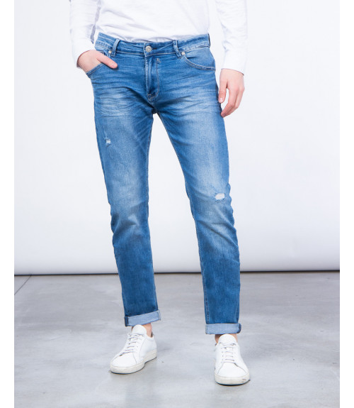 Light wash regular fit jeans