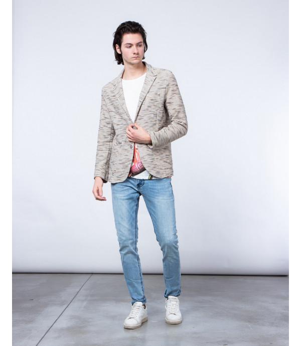 Giacca in maglia melange