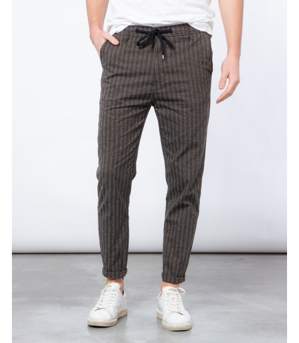 Pantalone con laccio a righe