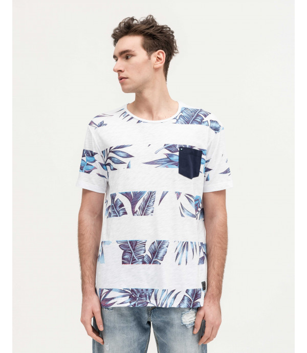 T-shirt with block floral print
