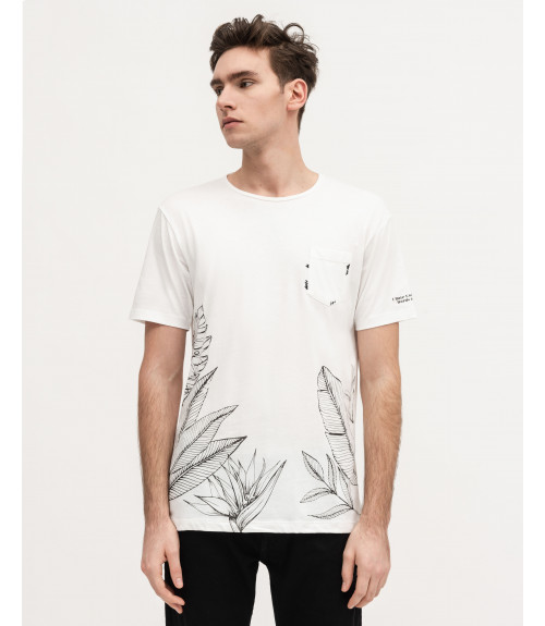 T-shirt with floral outline print