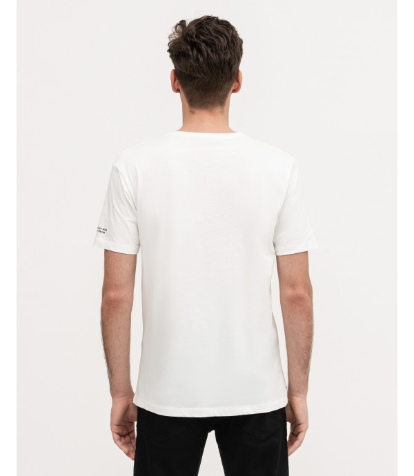 T-shirt con stampa outline floreale