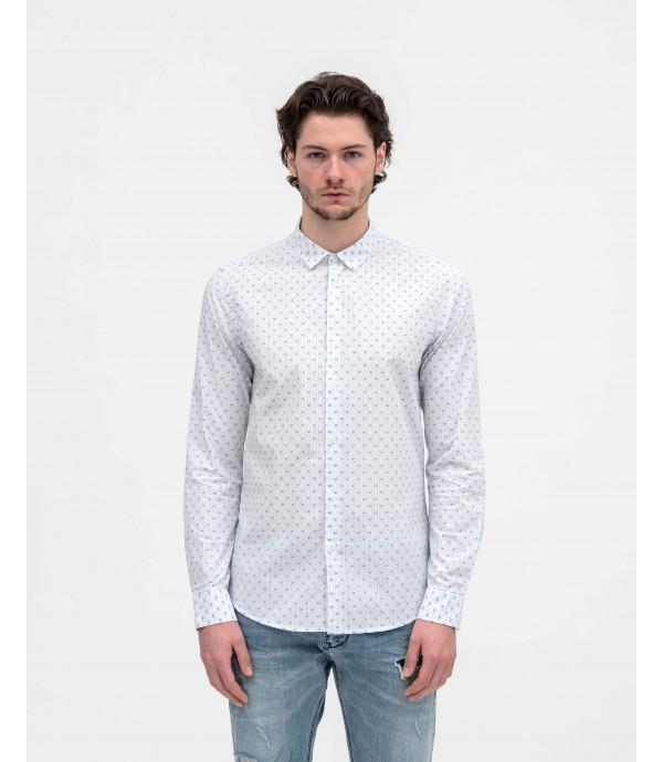 Camicia a righe con fantasia puntinata