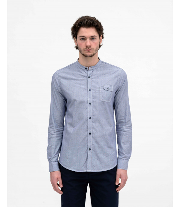 Mandarin shirt in linen