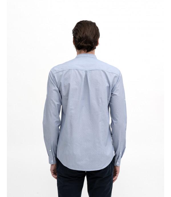 Camicia coreana con pettorina in fantasia