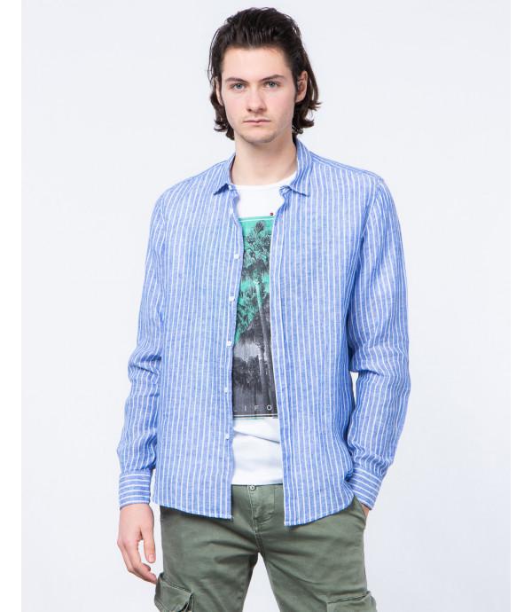 Camicia di lino a righe