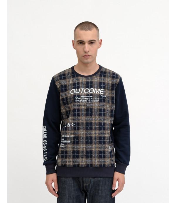 Felpa OUTCOME con fabric block