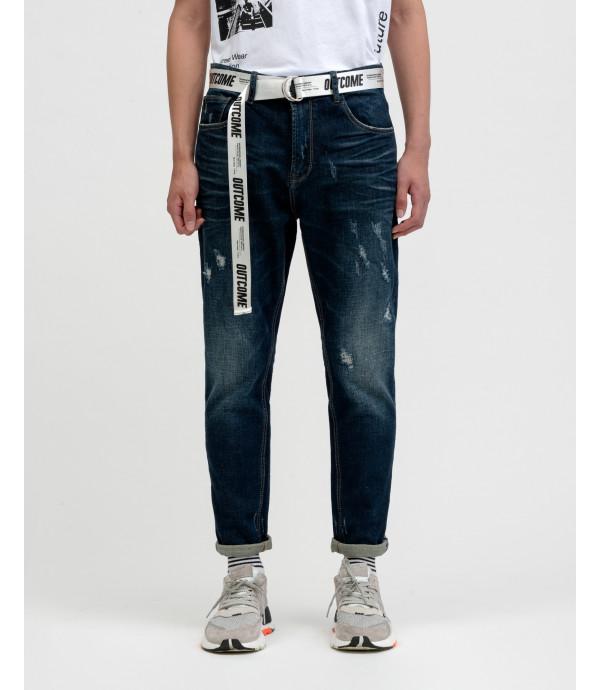 Jeans carrot fit OUTCOME medium wash con cintura