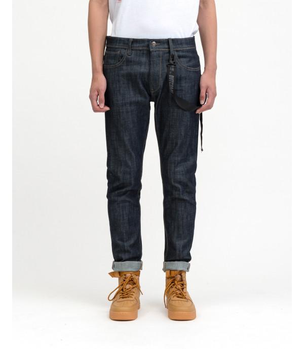 Jeans regular fit OUTCOME rinse wash con accessorio