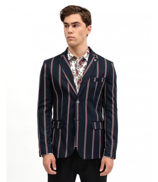 Regimental striped blazer