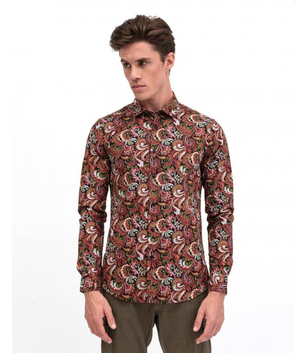 Camicia in fantasia cashmere