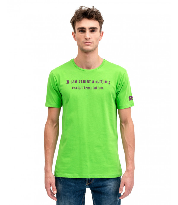 T-shirt with flocking
