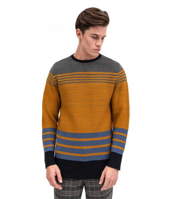 Maglia tricot con bande orizzontali