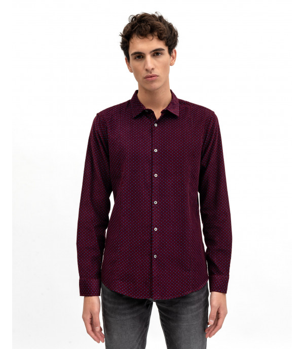 Curduroy shirt with polka dots
