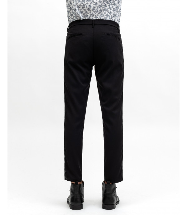 Trousers with satin stripe