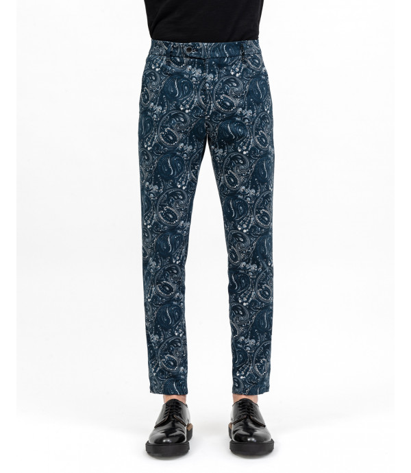Jaquard parsley trousers