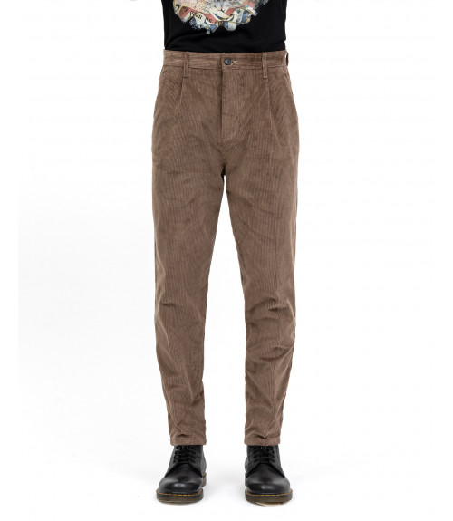 Regular fit trousers in corduroy