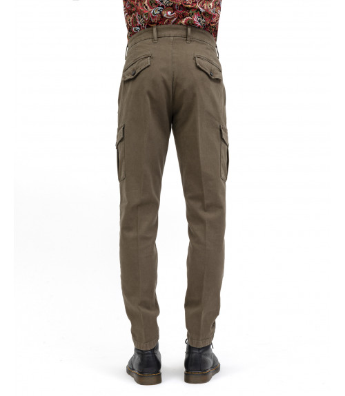 Textured cargo trousers