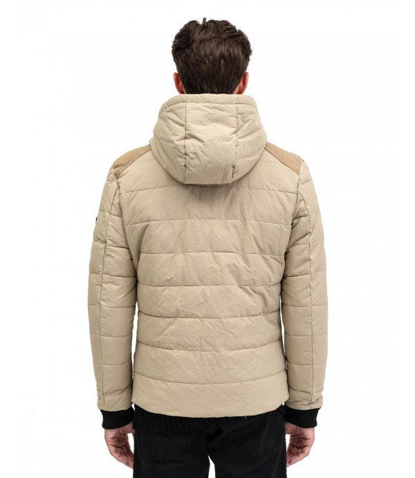 Padded Jacket with corduroy details