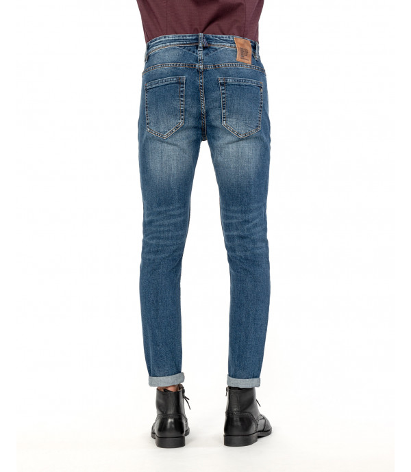 Medium wash skinny fit jeans