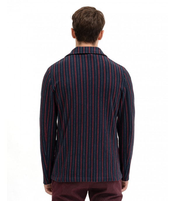 Deconstructed striped blazer in jersey
