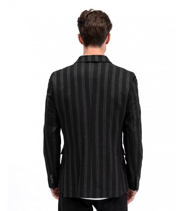 Tone on tone striped blazer