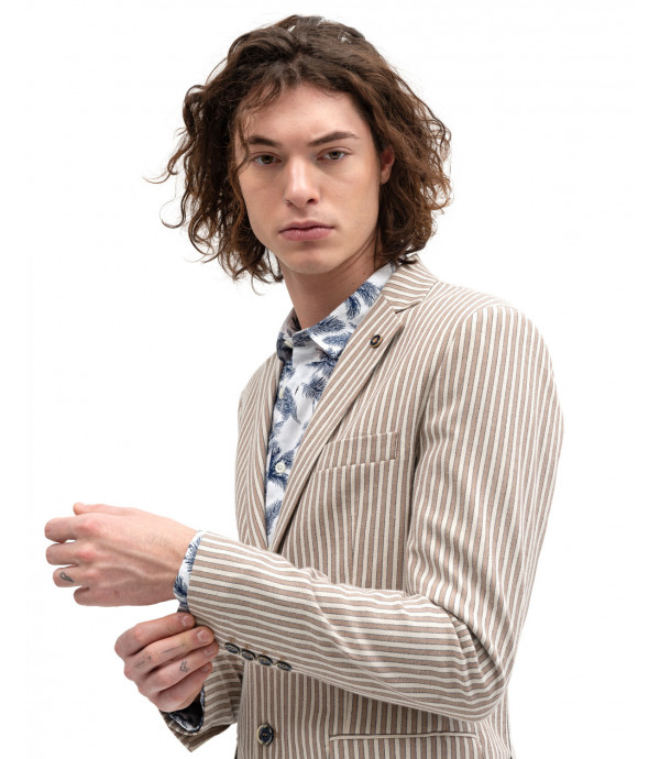 Linen striped jacket