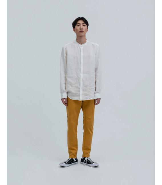 Camicia lino collo coreana