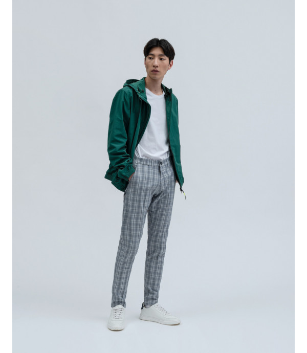 Pantalone chino a quadri