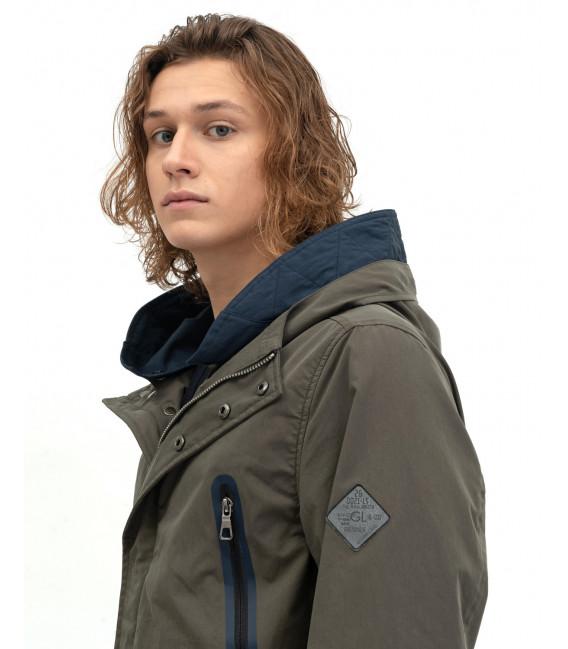 Color-block raincoat