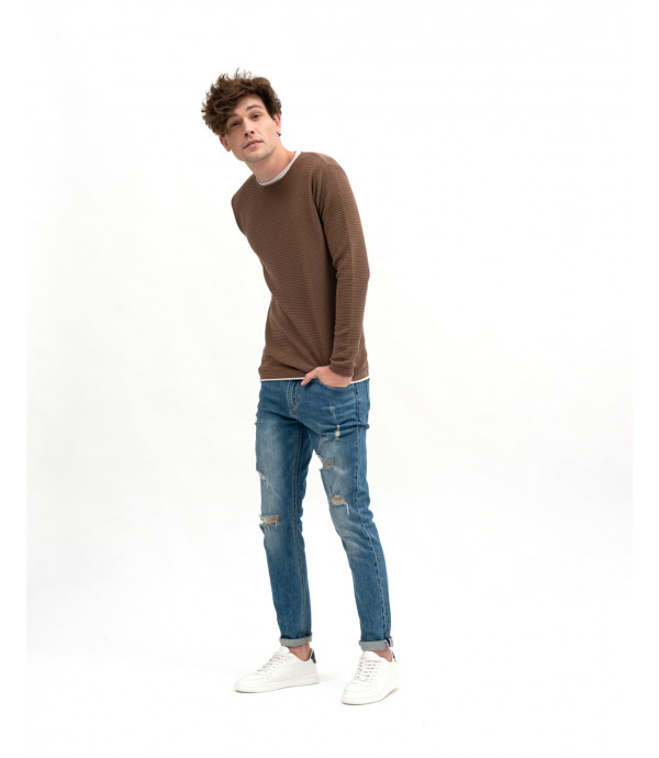 Double-hem sweater