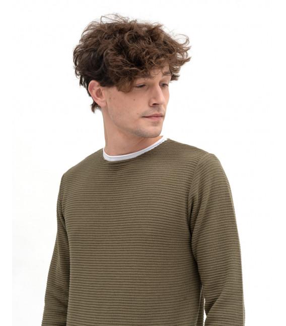 Double-hem sweater