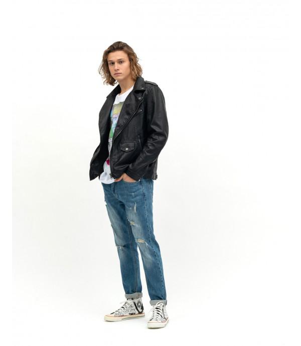 Jeans slim fit con cintura