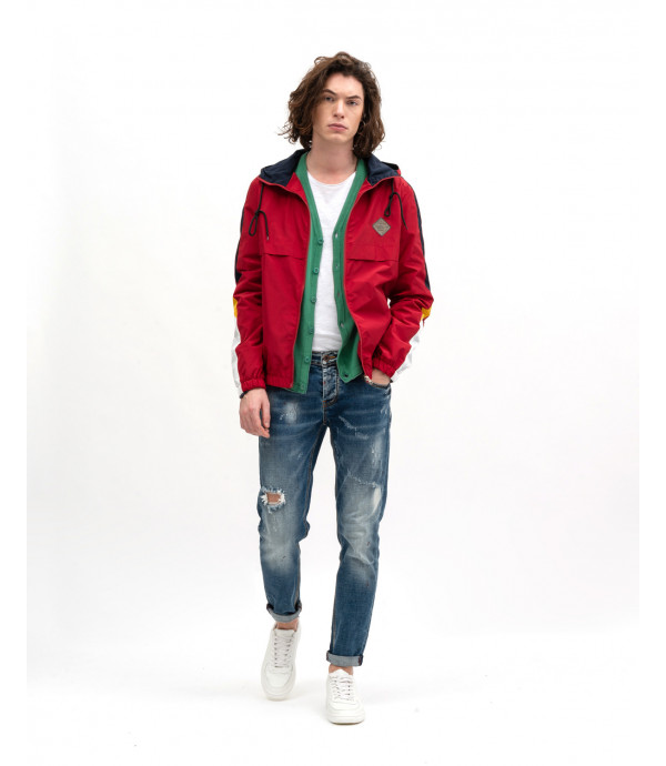 Slim fit distressed jeans