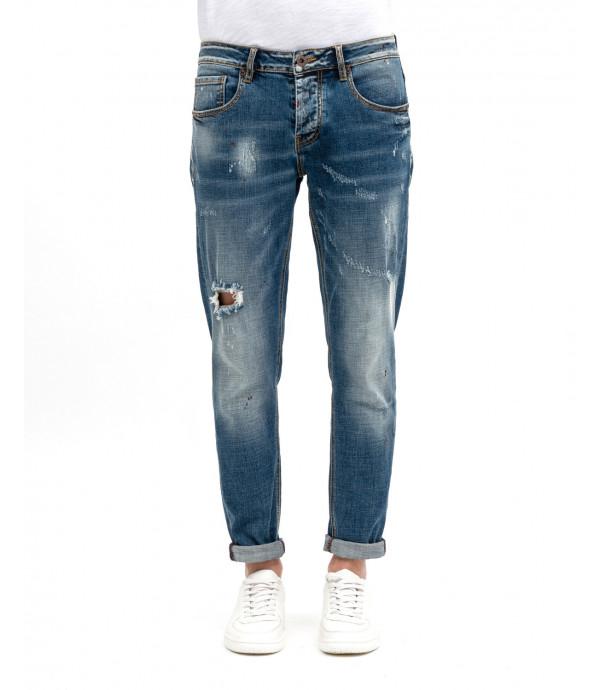 Jeans strappati slim fit