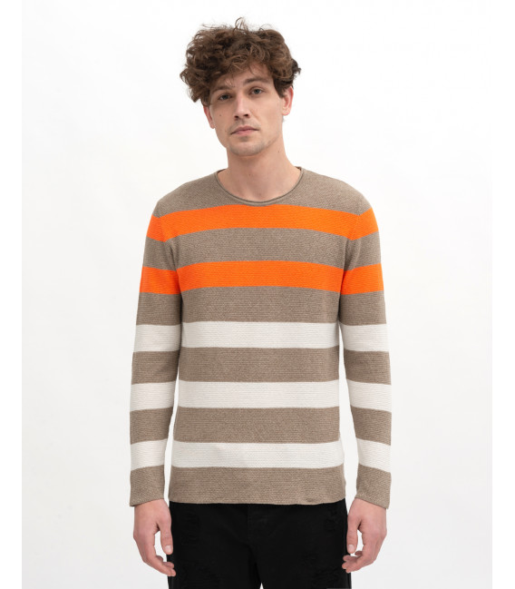 Fluo colors striped sweater