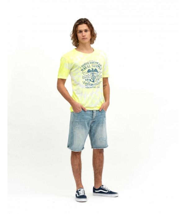 Printed tie-dye t-shirt