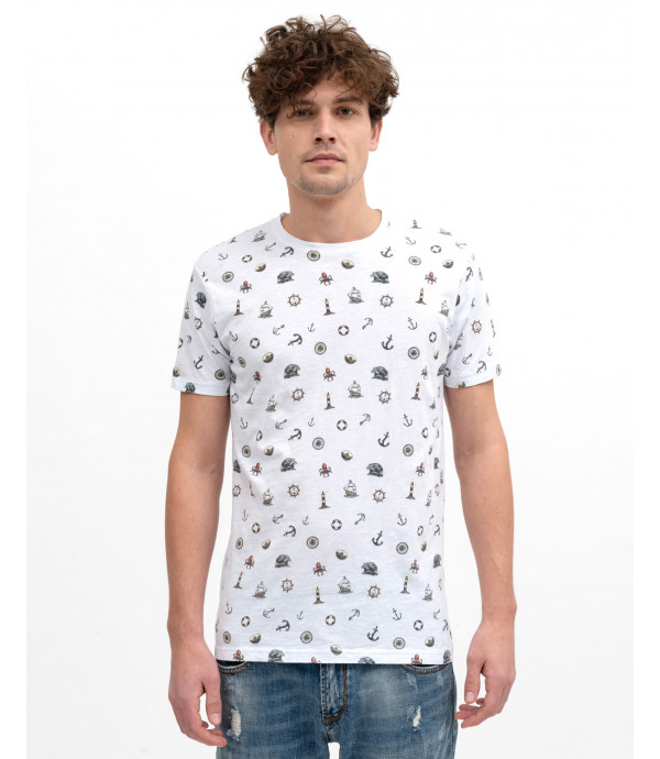 T-shirt stampata all-over