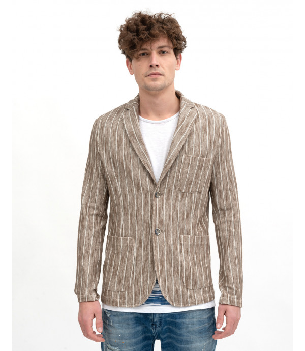 Striped decontructed jacket