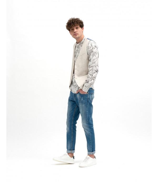 Camicia lino stampata