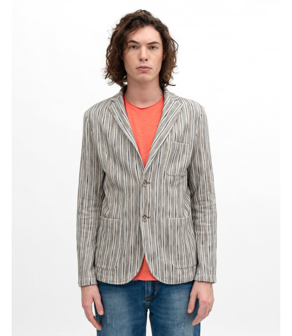 Striped comfort blazer