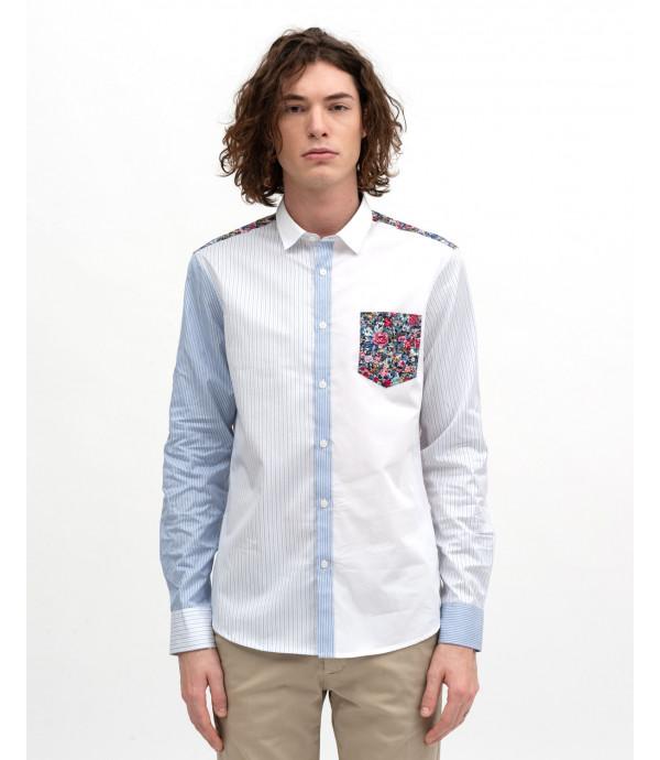 Print-block shirt