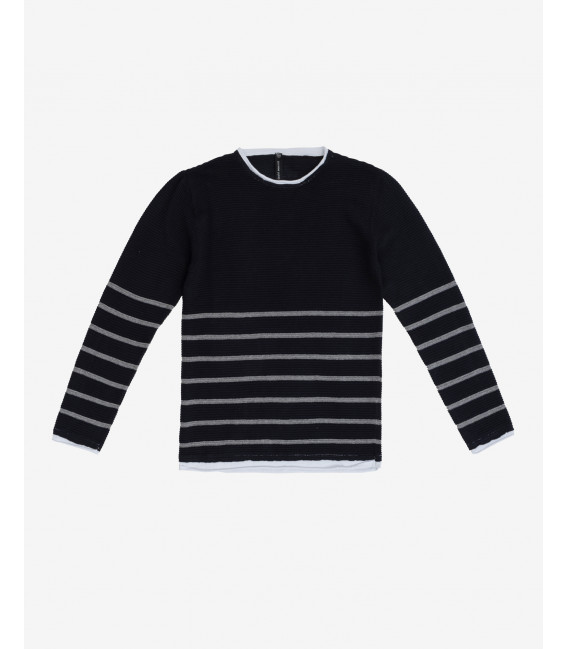 Double-hem striped sweater
