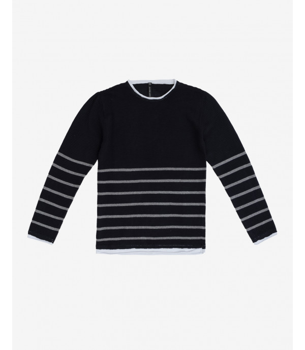 Double-hem striped sweater