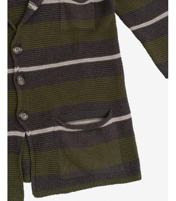Striped knitted blazer