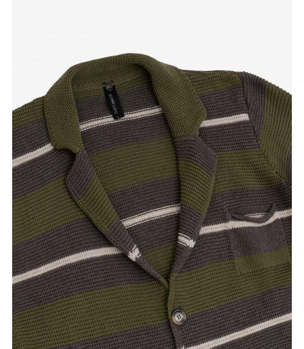 Blazer in maglia a righe