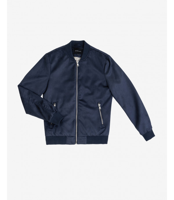 More about Faux suede bomber