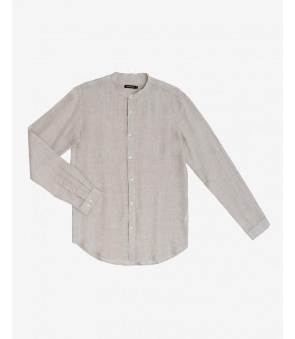 Camicia in lino collo coreana in lino