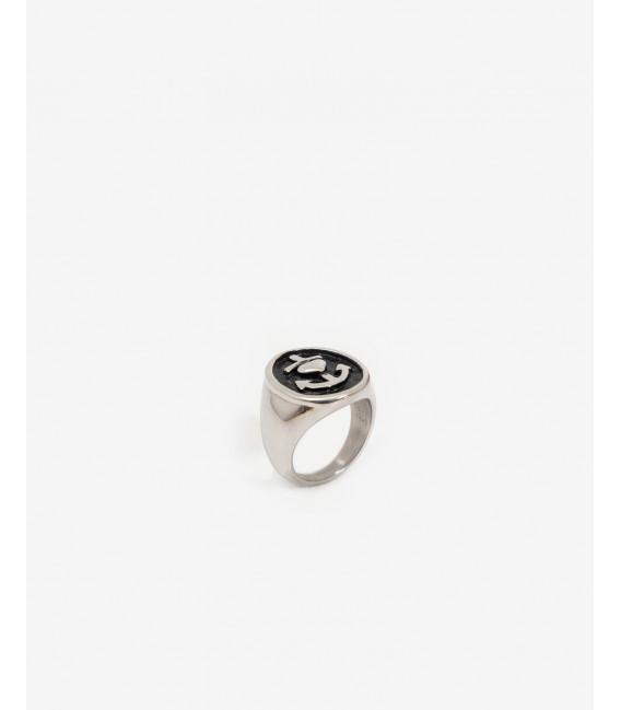 Sailor style metal ring